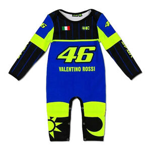 NEW 2020 VR46 Valentino Rossi Moto GP YAMAHA 46 Baby Gro Suit Overall OFFICIAL