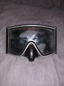 Vintage Dacor Diving Mask Tempered Lens Goggle Black