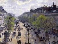 PAINTING CITYSCAPE PARIS PISSARRO MONTMARTRE IN SPRING ART PRINT POSTER LAH025