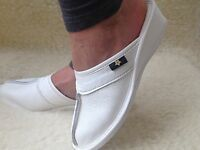 New Summer Mule Leather Slippers Black White Clogs Size 3 4 5 6 7 8 Flip-Flop