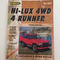 GREGORYS HI-LUX 4WD 4 Runner Service & Mepair manual no 503 -1981-1988