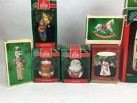 Hallmark Pressed Tim 8 Christmas Ornaments & Display Houses in Boxes