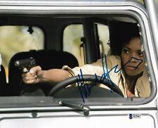 NAOMIE HARRIS SIGNED 8x10 PHOTO MISS MONEYPENNY JAMES BOND 007 BECKETT BAS