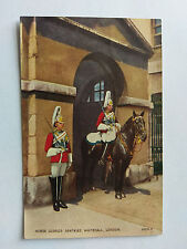 Horse Guards Whitehall Vintage B&W Postcard 1941 Churchill Quote