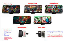 Suicide squad Inspired comics joker quinn leather phone case for Huawei Samsung