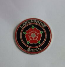 Lancashire Biker Enamel Pin Badge Motorcycle Biker 59 Rocker