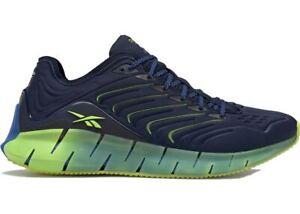 Reebok Chromat Zig Kinetica Men's Sneakers Shoes Navy Blue/Yellow Size 12 NIB