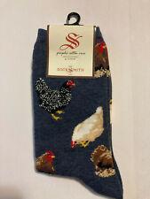 Socksmith Women's Chicken Hen House Socks Shoe Sz 5 - 10.5