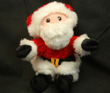 """Santa Claus Christmas Holiday Red White Beard Lovey Plush Toy 6"""" Commonwealth"""