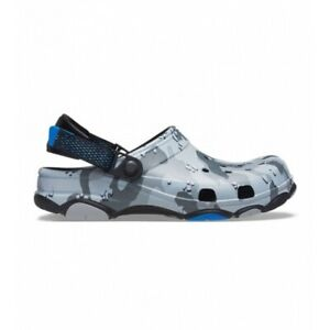 Crocs CLASSIC ALL TERRAIN DESERT CAMO Mens Lightweight Clogs Black/Grey