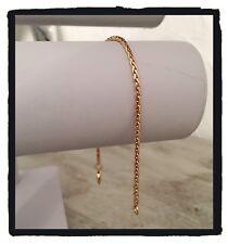 Bracelet Maille palmier fin 20 cm x 2,5 mm  En Plaqué Or 18 carats Bijoux Femme