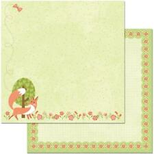 """BoBunny Weekend Adventures - PLAY DATE - 12x12"""" d/sided scrapbooking paper"""