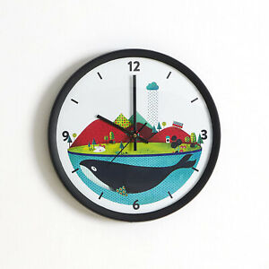 Clock Handmade Vintage Round Whale Plastic Wall Clock Watch Home unique gift