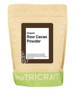 Organic certified CACAO / COCOA powder by NUTRICRAFT™ - Raw - Peruvian Criollo
