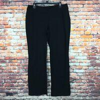 New Liz Lange Maternity Womens Size Medium Black Cotton Like Pants