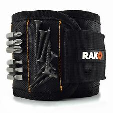 RAK Magnetic Wristband w/ Strong Magnets Holds Screws, Nails, Bits Gift for Him