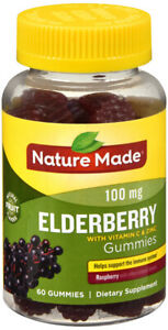 Nature Made Elderberry Gummies 100mg w/ Vitamin C & Zinc 60CT