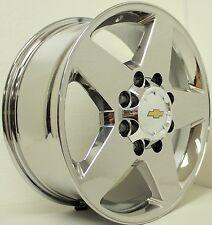 "2001-2010 Chevy Silverado Suburban 2500 HD PVD Chrome 20"" 8 Lug Wheels Rims"