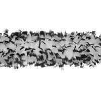 "TURKEY BOA - WHITE/BLACK MIX 2 Yards 8-10"" Feathers 150 Grams; Halloween/Costume"