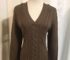 Tommy Bahama Hooded Cable Knit Sweater Nwt Women's XL 16 Brown Original $118