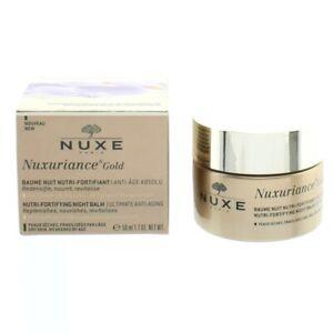 Nuxe Night Balm Moisturiser Nuxuriance Gold Nutri-Fortifying 50ml Anti-Ageing