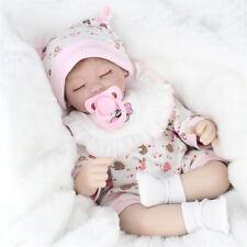"Soft Vinyl Real Life Like Reborn Baby Girl Doll Silicone Newborn Dolls 18""/45cm"