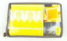 """New EchoDesign Jaipur Cotton Yellow White Boho Pillow Sham 26"""" x 26"""" ONE"""
