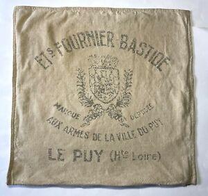 RESTORATION HARDWARE Pillow Cover Belgian Linen Grain Sack Ets Fournier 22x22