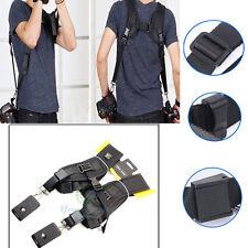 Quick Rapid Double Dual Shoulder Sling Belt Strap for 2/Two DSLR Digital Cameras