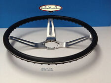 CAMARO CHEVELLE NOVA 3 SPOKE COMFORT GRIP STEERING WHEEL BLACK 15""