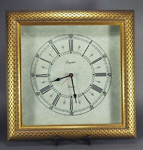 "Empire Art Products Gold Ornate Frame 15"" x 15"" Wall Clock"