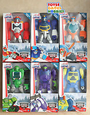 "Transformers Rescue Bots 10"" Figures Blades Heatwave Chase Boulder Salvage Blurr"