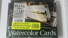 Strathmore Blank Watercolor Postcards Imperial Paper Pad Cards DIY colors white