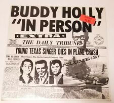 RARE BUDDY HOLLY IN PERSON MINT SEALED LP CRICKET RECORDS C002000 SEALED