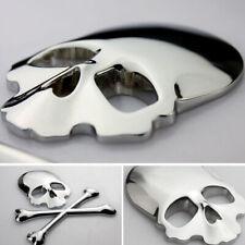 1x Car Truck 3D Metal Skull Head Bone Logo Modified Emblem Sticker Decoration