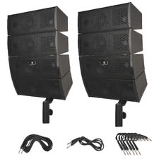 """PRORECK 4X4"""" Passive Line Array Speaker System Sets with Connecting Cables"""