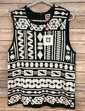 NWT Anne Klein Women's Black and White Sleeveless Top Size L MSRP $89