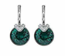 Swarovski 5498876 Bella V Green Crystal Rhodium Plated Earrings 1.8cm RRP89