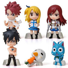Hot 6PCS Mini Action Figures Anime Fairy Tail Dolls Models Collection