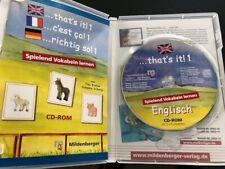 ? Mildenberger Verlag Englisch ... thats it 1 ? CD-Rom ? Lernsoftware ?