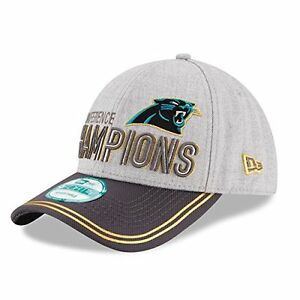 Carolina Panthers NFL New Era 2015 NFC Champions 9FORTY Locker Room Hat