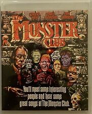 THE MONSTER CLUB BLU RAY RARE OOP SCORPION RELEASING FREE WORLD WIDE SHIPPING