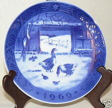B&G Collector Plate Ducks in Old Barnyard 1969 Copenhagen Jules Aften Denmark