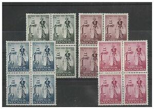 Indonesia 1956 Jogiakarta Anniversary Set/4 Stamps in Blocks/4 Sc.432/35 MUH 6-4