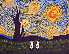 JACK RUSSELL Parson Rat Terrier Dog Art PRINT Todd Young UNDER A VAN GOGH SKY