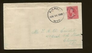 1898 Big Red Wyoming to Chicago Illinois Duplex Canceled Postal Cover
