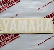 ORIGINAL Yamaha-12cm x 2,8cm-Schriftzug Aufkleber-WEISS-Logo-Decal-Sticker-120mm