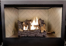 Gas Ventless Fireplace Logs Unvented Artificial Natural Fake Vent Free Heater