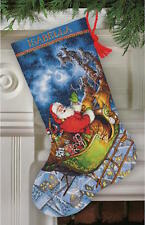 Dimensions Needlecrafts 8923 Santa's Flight Stocking Counted Cross Stitch Kit