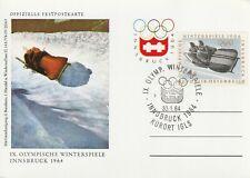 1964 Austria card - 9th Winter Olympic Games Innsbruck - Kurort IGLS